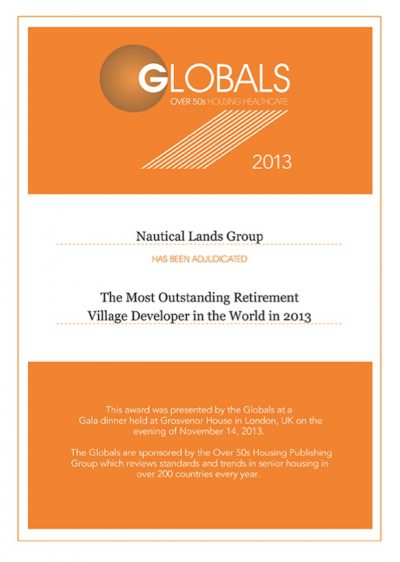 2013 Global Awards Nautical Lands Group