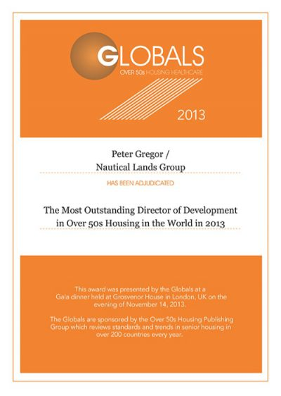 2013 Global Awards Peter Gregor Nautical Lands Group