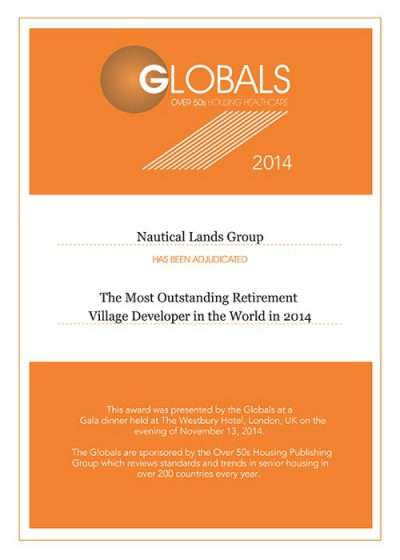 2014 Global Awards Certificates Nautical Lands Group