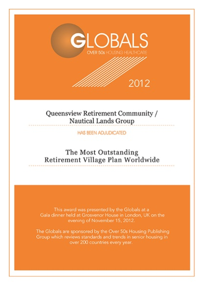 Globals Over 50s 2012 Certificate Nautical Lands Group